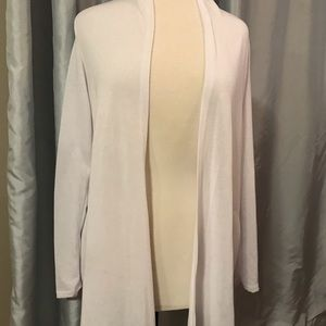 NWT! Chris and Carol L/S White Cardigan (D)